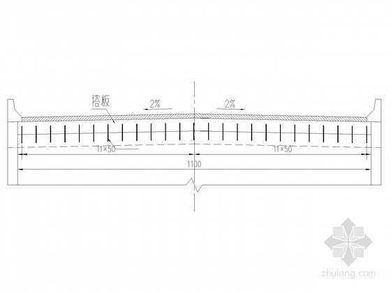 三跨预应力混凝土连续刚构桥桥台搭板枕梁一般构造图