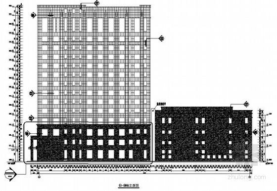 [大连]15层商住楼外墙石材幕墙施工图