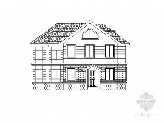 两层坡屋顶别墅建筑设计方案图