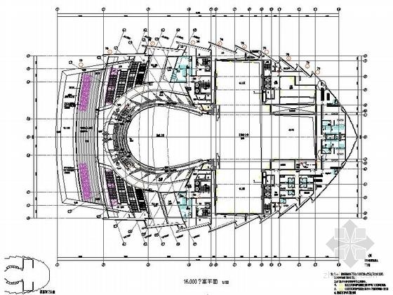 省级大剧院建筑平面图