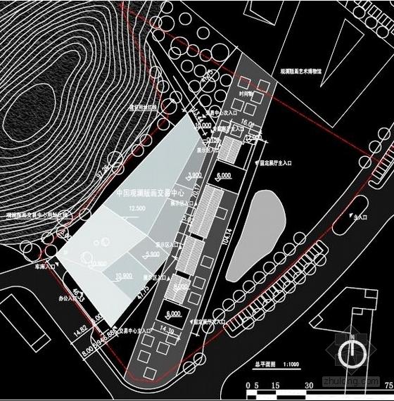 [深圳]两层清水混凝土拍卖交易中心改建设计方案文本-两层清水混凝土拍卖交易中心改建总平面图