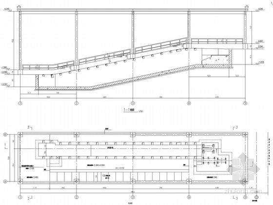 钢框架爬车机房结构施工图