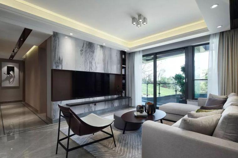 看看这两套样板房设计,用黑白灰勾勒出的简约风_47