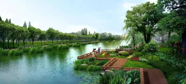 城市滨水设计与植物造景