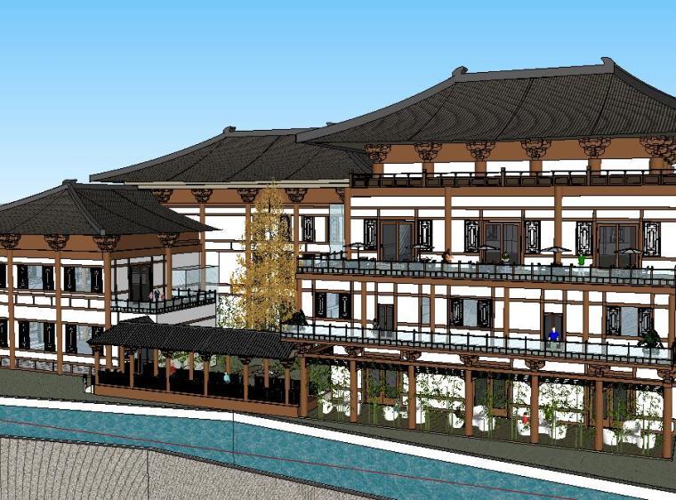 酒店及旅馆SU模型设计