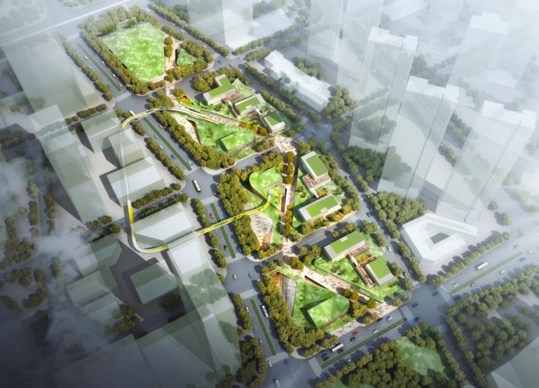 [广东]深圳招商前海自由贸易中心绿轴景观设计