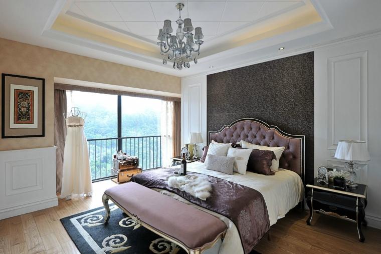 简欧风格|115平米三居室装修效果图|吴飞设计师