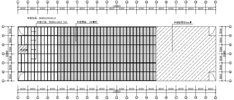 单层坡双跨厂房钢结构施工图(CAD,14张)_3