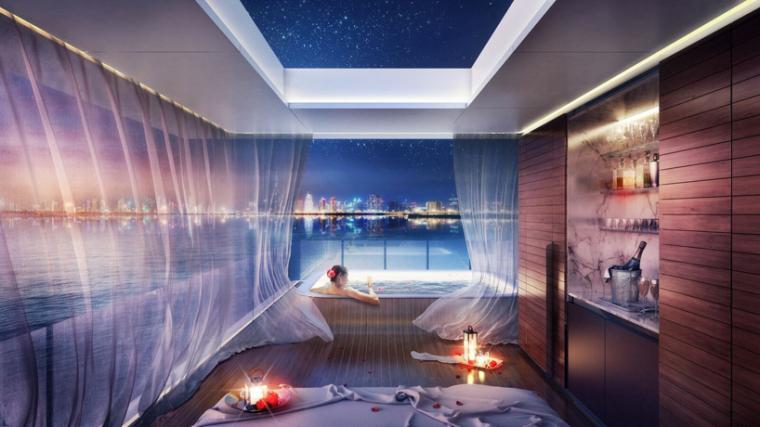 迪拜漂浮海马当代游艇_7