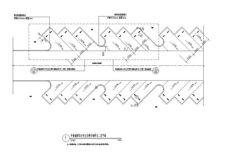 小、大车生态停车场做法标准设计(2017年最新资料)-中高端-生态停车场(接沥青道路,成品车轮挡)详图二