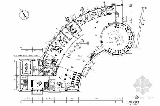 [南昌]大型房地产开发公司售楼处大厅装修图(含效果图)