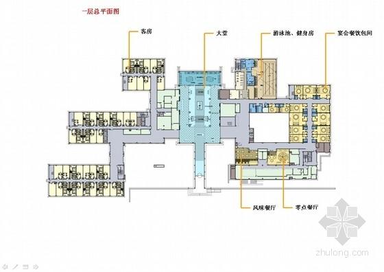 [上海]中心商业圈四星级现代风格酒店室内设计概念方案