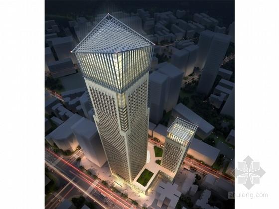 [四川]230米玻璃幕墙办公大厦单体建筑设计方案文本