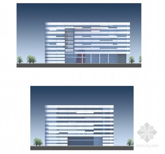 [江苏]科技园区管理服务中心建筑设计方案文本(垂直绿化)-科技园区管理服务中心立面图