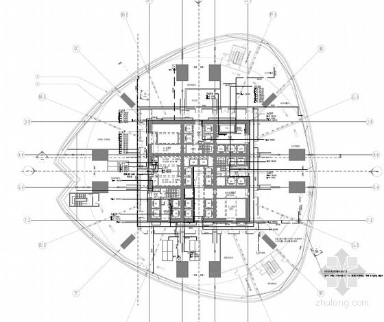 [上海]600米超高层地标式摩天大楼给排水消防施工图(臭氧投加 屋顶花园 中水处理 燃气通信)