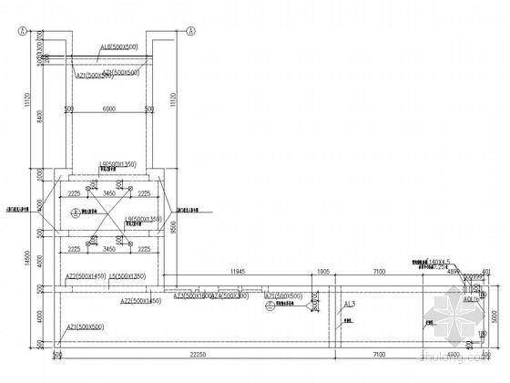 地铁站出入口通道结构施工图