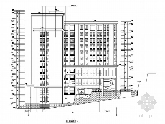 [西南]15层框架结构重点大学农学部大楼结构施工图(含建筑图)