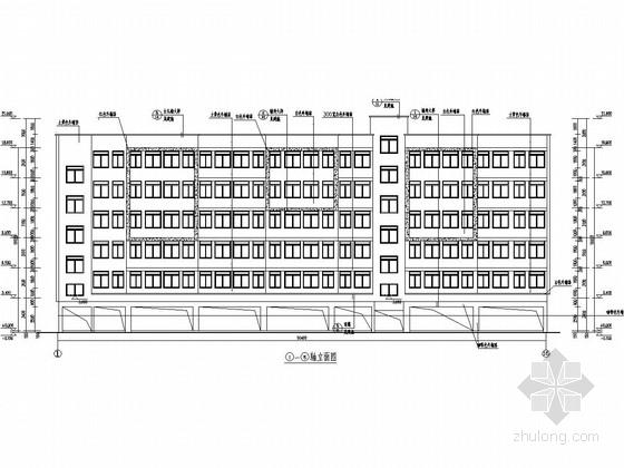 5900平六层底框结构宿舍楼建筑结构施工图