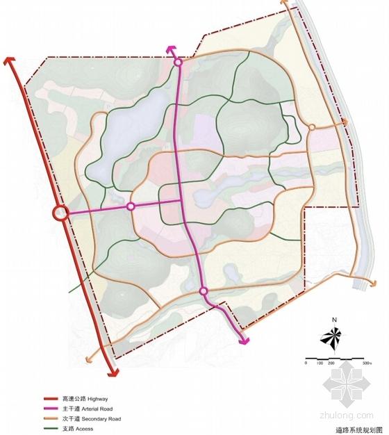 大型生态温泉度假区规划设计分析图