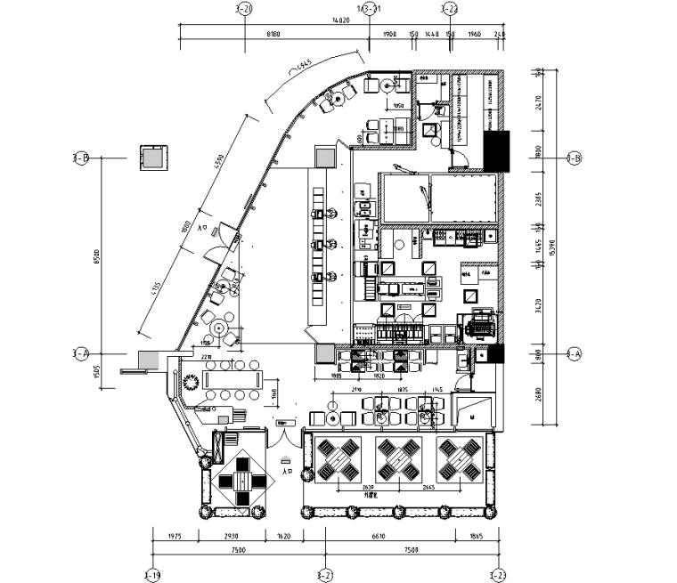汉堡王珠海迎宾路店施工图&效果图&预算&结算&设计相关