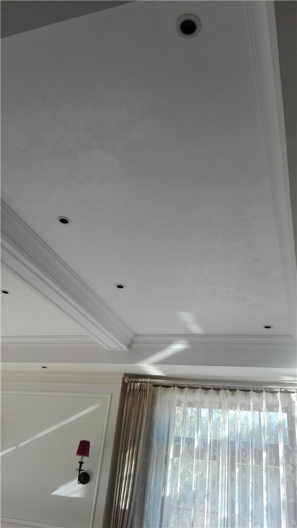 顺义别墅卧室吊顶威尼斯灰泥艺术漆