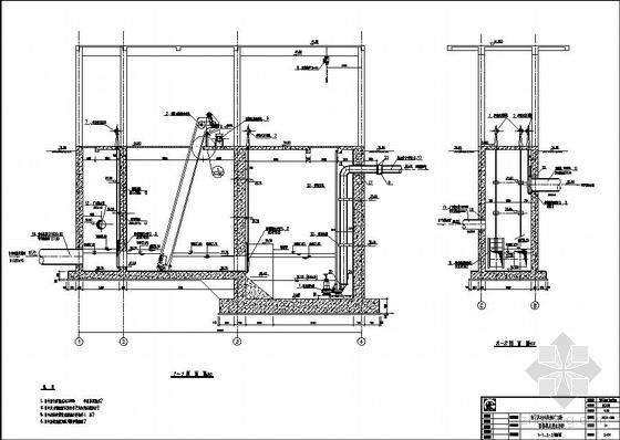 东莞某污水处理厂粗格栅及进水泵房图纸