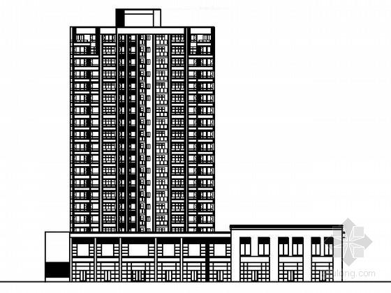 某十九层沿街二梯六户商住楼建筑方案图
