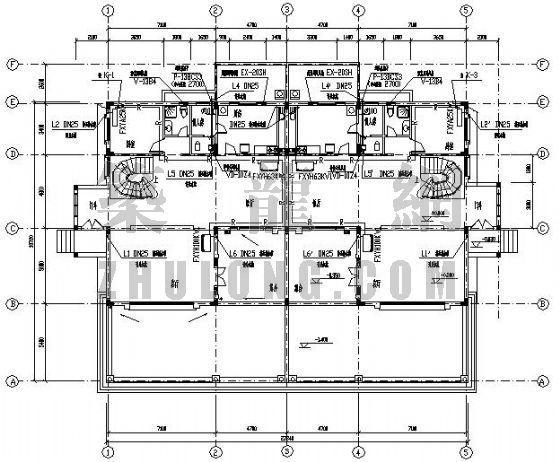 VRV空调设计图资料下载-某别墅VRV空调设计图