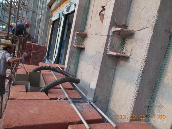 建筑工程挂砌欧式清水砖墙施工工法