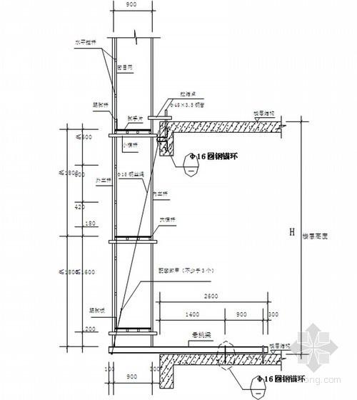 框剪结构综合住宅楼工程悬挑脚手架方案