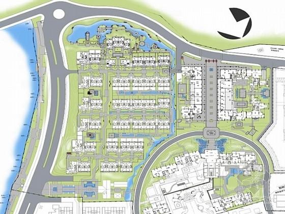 [广州]岭南特色的现代中式建筑风格住宅规划设计方案