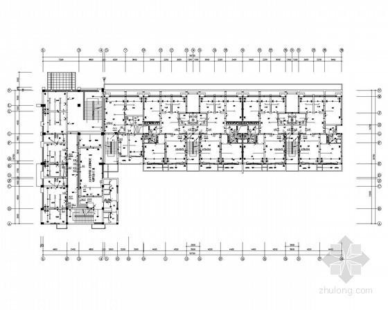 [湖南]6层小区住宅楼强弱电施工图18张