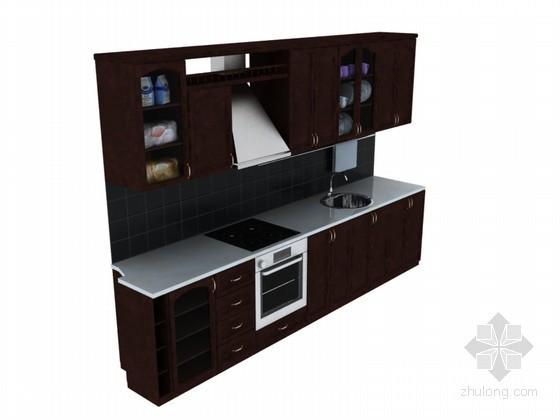 欧式整体橱柜3D模型下载