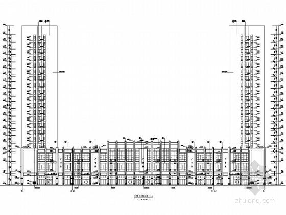 [湖南]20层框剪结构农产品物流中心建筑结构施工图(双塔)