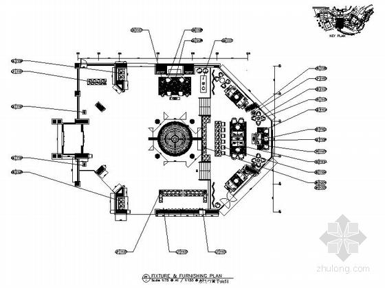 [昆明]顶级奢华高尔夫俱乐部改造酒店室内装修施工图(含效果)