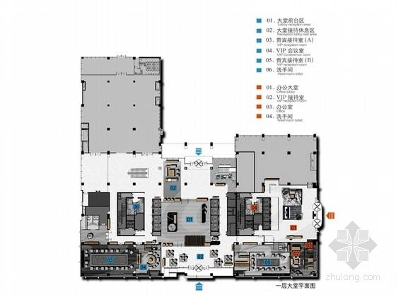 [成都]高端大气现代大厦办公楼设计方案(含效果图)