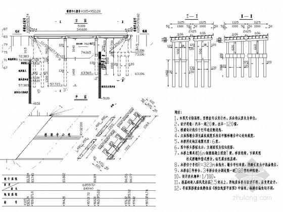 3跨16m钢筋砼T梁桥全桥施工图(53张)