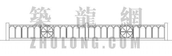高铁管护栏立面图