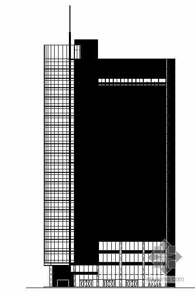 [安徽合肥]某高层商业办公楼建筑施工图(含效果图及文本及实景照片)
