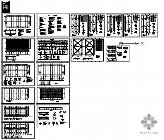 某电厂干料棚结构设计图