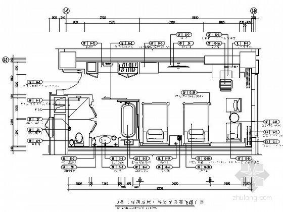 [成都]五星酒店标准双床间施工图