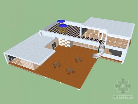 茶楼SketchUp模型下载