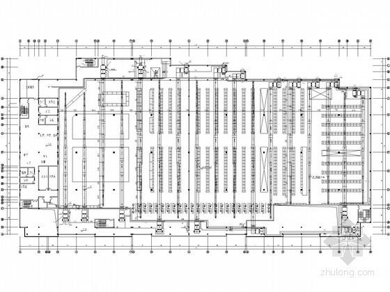 VAV空调设计图纸资料下载-某大型超市空调通风设计图纸
