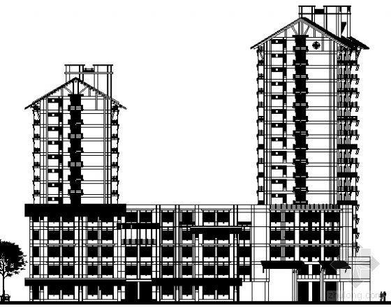 [无锡]南长街某十四层住宅楼建筑方案图