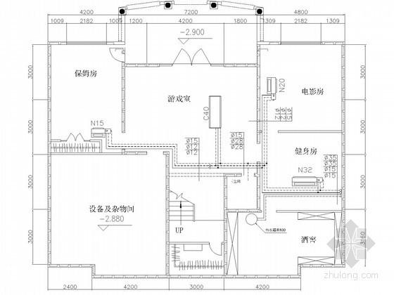 别墅建筑中央空调工程系统设计施工图