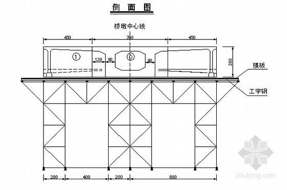 桥梁支架施工箱梁方案图