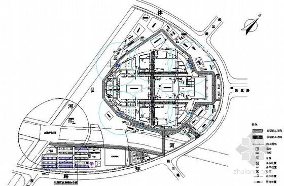 [天津]体育馆工程二次结构阶段施工现场平面布置图