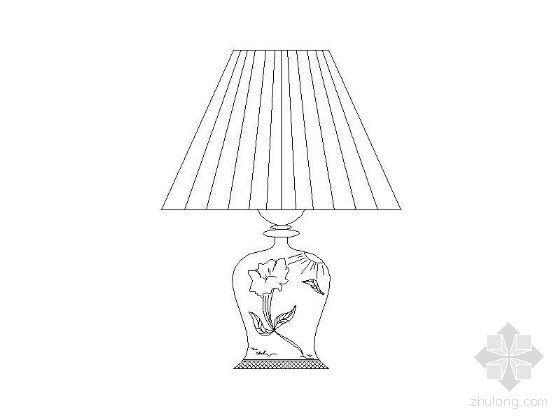 家居常用灯具立面图块
