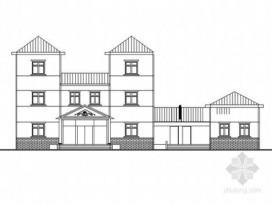 [课程设计]某三层独立别墅建筑方案图