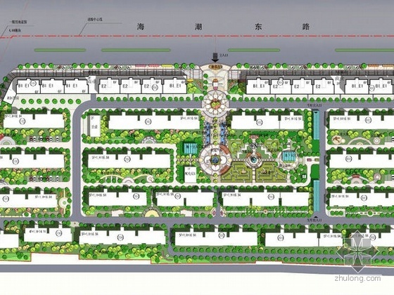 江苏省多层住宅小区景观设计方案
